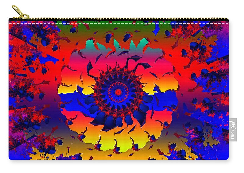 Wheel Carry-all Pouch featuring the digital art Jamaica Say You Will by Robert Orinski