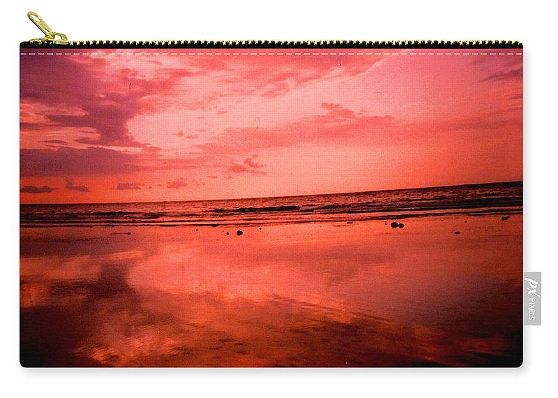 Sunset Carry-all Pouch featuring the photograph Jamaica Sunset by Ian MacDonald