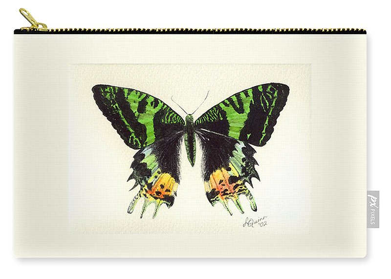 Butterfly Carry-all Pouch featuring the painting Jamaican Jewel by Lynn Quinn