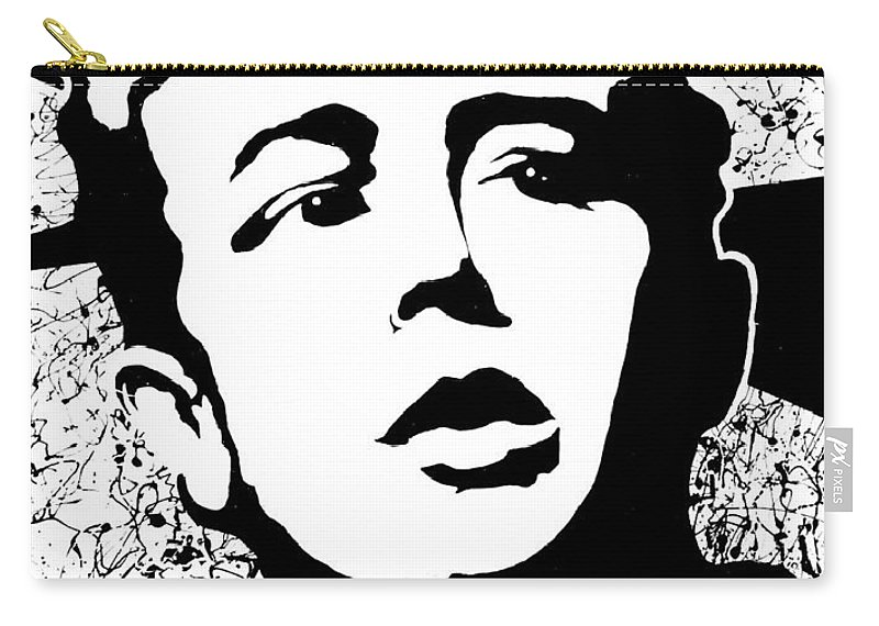James Dean Carry-all Pouch featuring the painting James Dean by Curtiss Shaffer