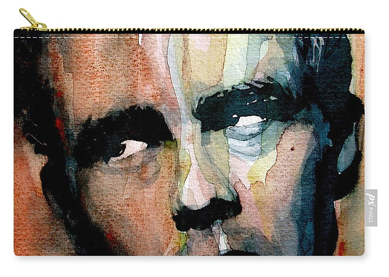 James Dean Carry-all Pouch featuring the painting James Dean by Paul Lovering