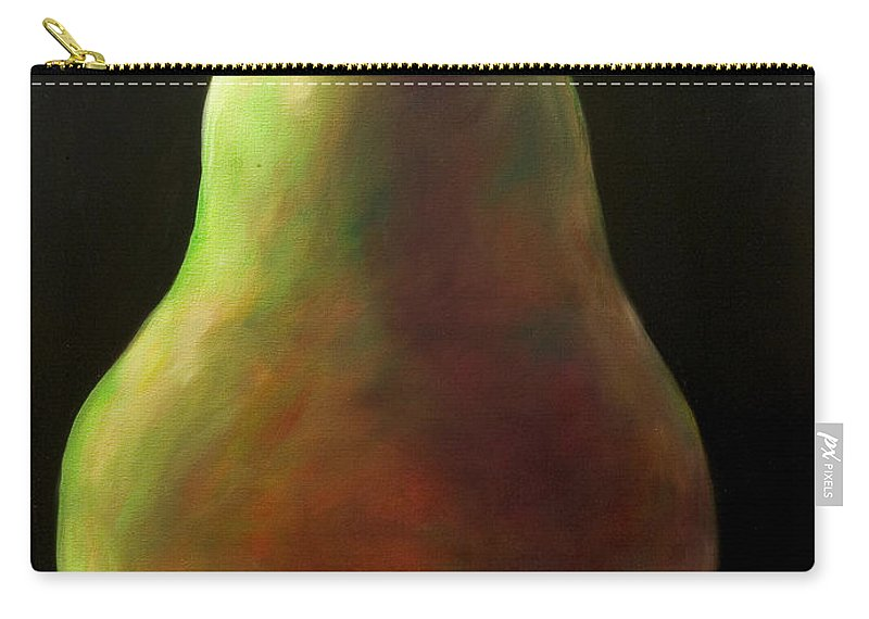 Pear Carry-all Pouch featuring the painting Jan by Shannon Grissom