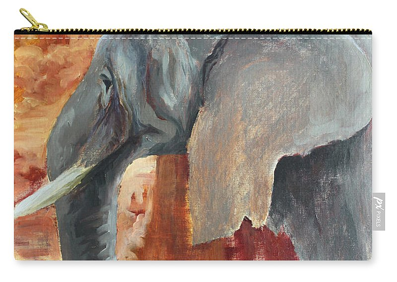 Animal Carry-all Pouch featuring the painting Jana by Todd Blanchard