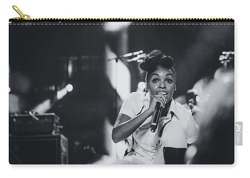 Janelle Monae Carry-all Pouch featuring the photograph Janelle Monae Playing Live by Marco Oliveira