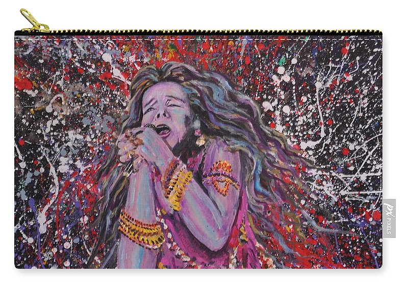 Painting Carry-all Pouch featuring the painting Janis Joplin by Gordon Roy