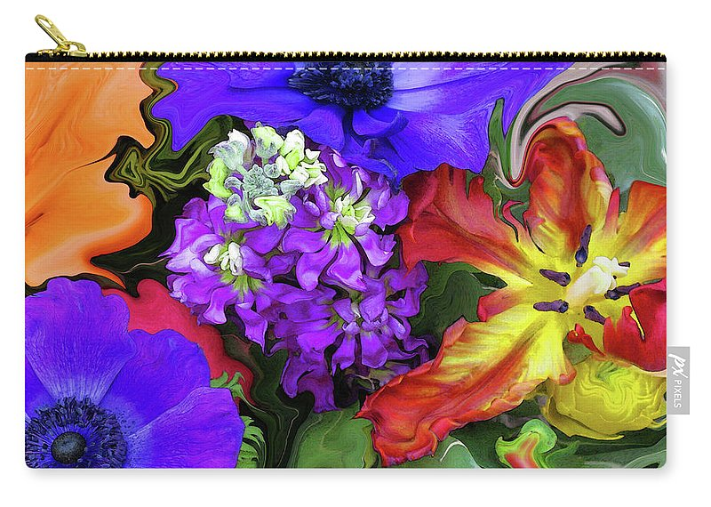 Abstract Carry-all Pouch featuring the photograph January Bouquet by Kathy Moll