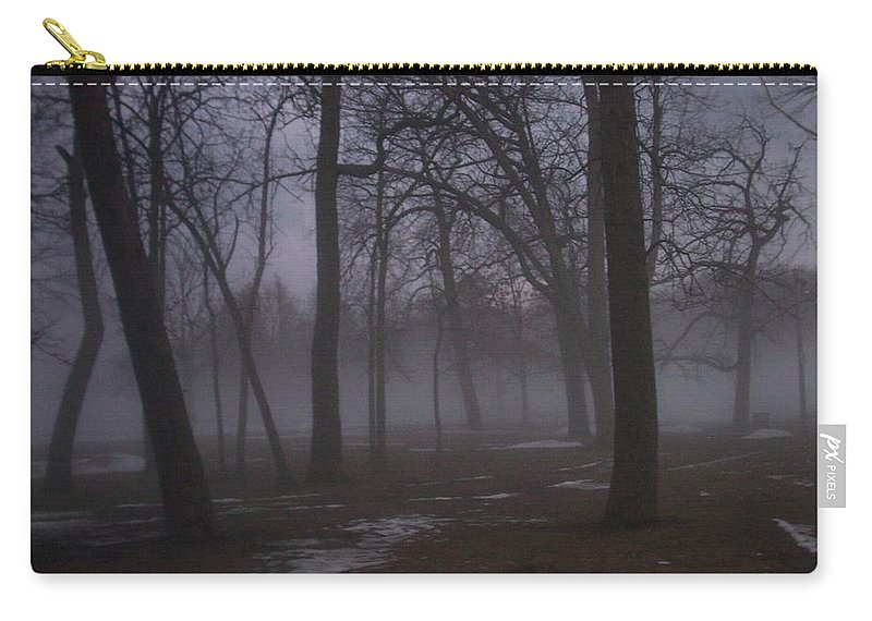 January Carry-all Pouch featuring the photograph January Fog 2 by Anita Burgermeister