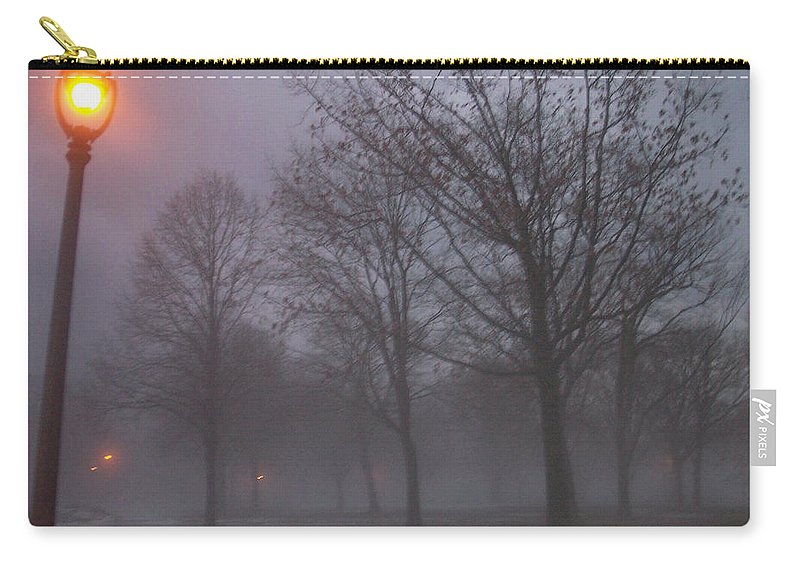 January Carry-all Pouch featuring the photograph January Fog 3 by Anita Burgermeister