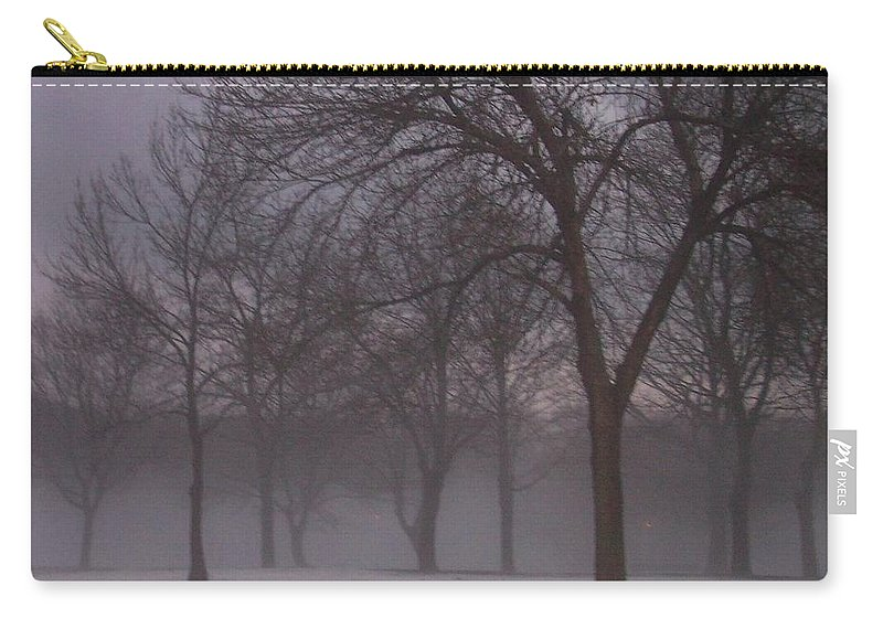 January Carry-all Pouch featuring the photograph January Fog 4 by Anita Burgermeister
