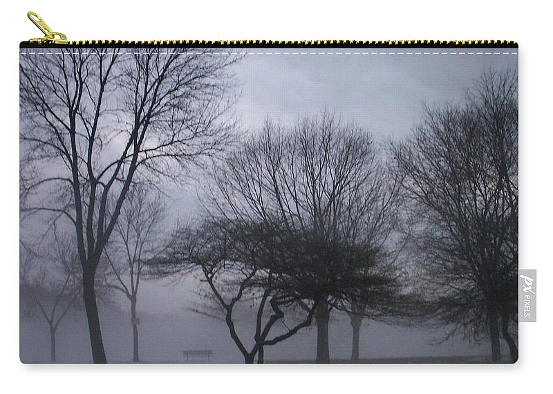 January Carry-all Pouch featuring the photograph January Fog 6 by Anita Burgermeister