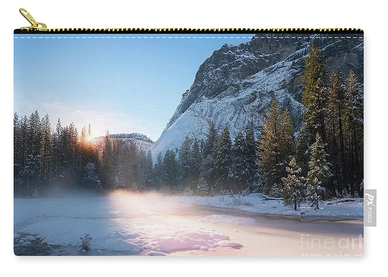 Yosemite Carry-all Pouch featuring the photograph January Morn by Peng Shi