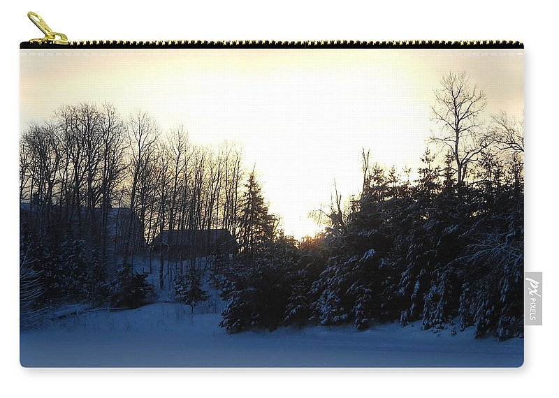 January Carry-all Pouch featuring the photograph January Winter Morninng by Kent Lorentzen