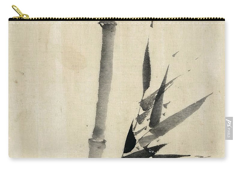 1850 Carry-all Pouch featuring the photograph Japan: Bamboo, C1830-1850 by Granger