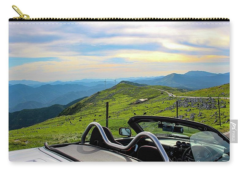 Japan Carry-all Pouch featuring the photograph Japan - Beautiful Road by SweeTripper