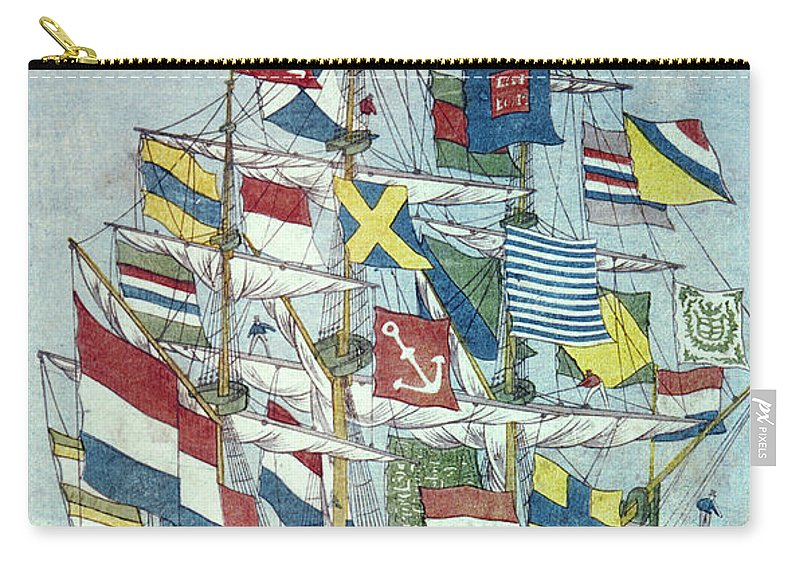 19th Century Carry-all Pouch featuring the photograph Japan: Dutch Ship by Granger