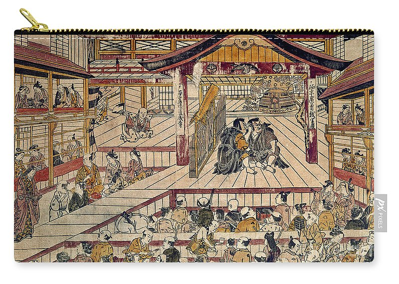 18th Century Carry-all Pouch featuring the photograph Japan: Kabuki Theater by Granger