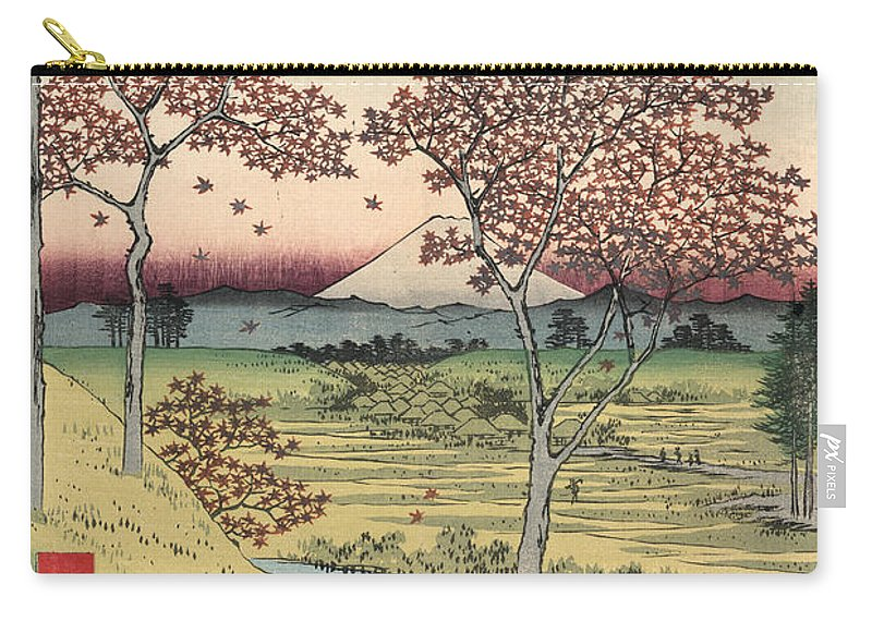 1858 Carry-all Pouch featuring the photograph Japan: Maple Trees, 1858 by Granger