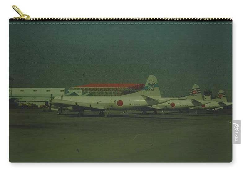 Airplane Carry-all Pouch featuring the photograph Japanese Airforce by Rob Hans