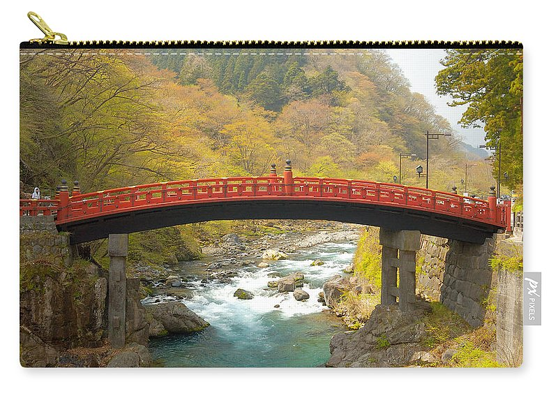 Japan Carry-all Pouch featuring the photograph Japanese Bridge by Sebastian Musial