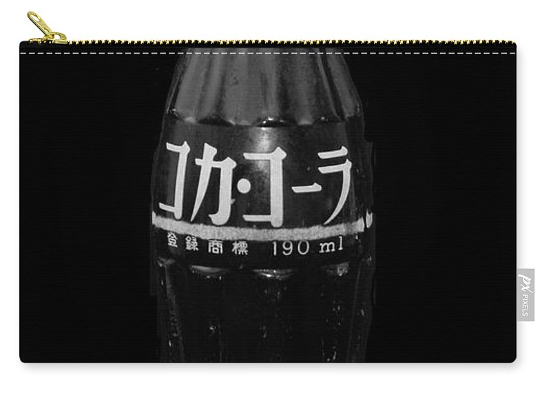 Black And White Carry-all Pouch featuring the photograph Japanese Coca Cola by Rob Hans