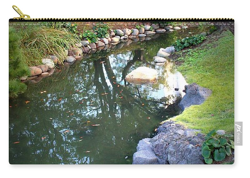 Japanese Garden Carry-all Pouch featuring the photograph Japanese Garden Reflection by Carol Groenen