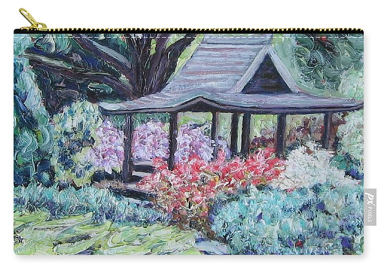 Garden Carry-all Pouch featuring the painting Japanese Garden by Richard Nowak