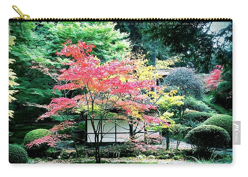 Japanese Carry-all Pouch featuring the digital art Tranquility by Mo Barton