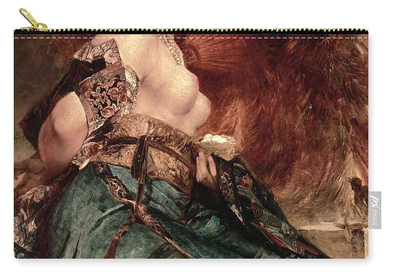 Japanese Carry-all Pouch featuring the painting Japanese Girl by Hans Makart