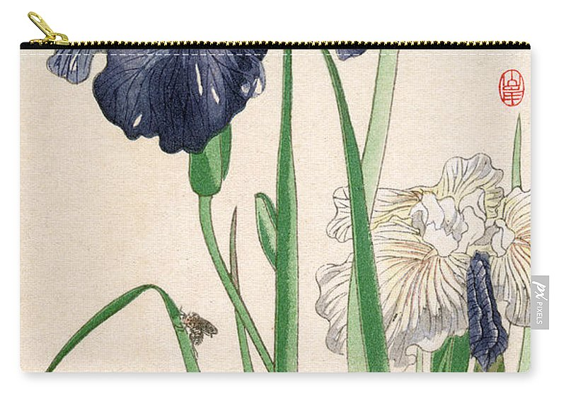20th Century Carry-all Pouch featuring the photograph Japanese Irises by Granger