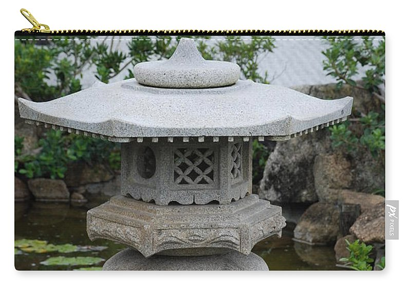 Rocks Carry-all Pouch featuring the photograph Japanese Lantern by Rob Hans