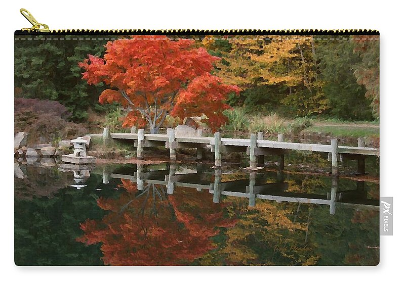 Maymont Carry-all Pouch featuring the photograph Japanese Reflection by Tina Meador