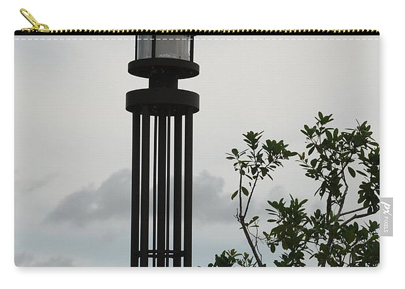 Street Lamp Carry-all Pouch featuring the photograph Japanese Street Lamp by Rob Hans