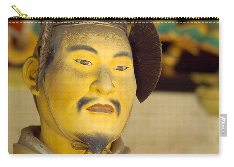Japan Carry-all Pouch featuring the photograph Japanese Warrior by Sebastian Musial