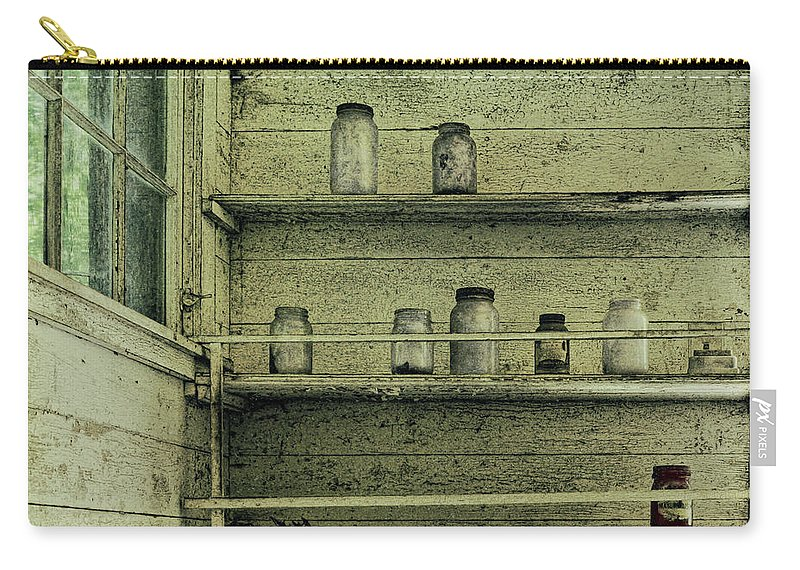 Jars Carry-all Pouch featuring the photograph Jars by Louise Reeves
