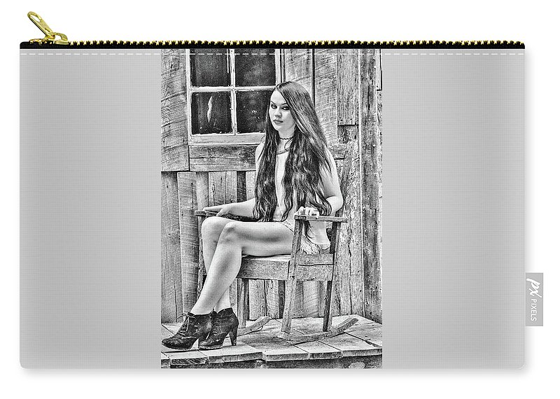 Portrait Carry-all Pouch featuring the photograph Jasmine by Chad Fuller