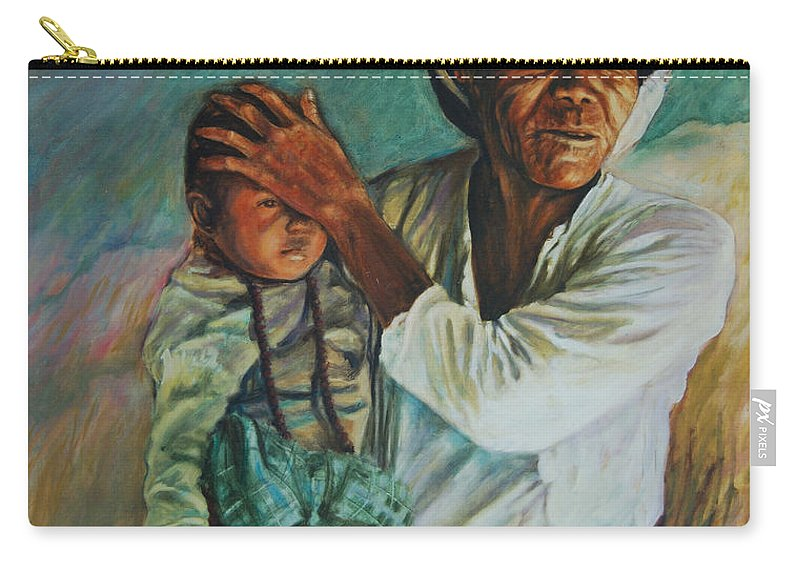 Woman Carry-all Pouch featuring the painting Javanese Woman by Rick Nederlof