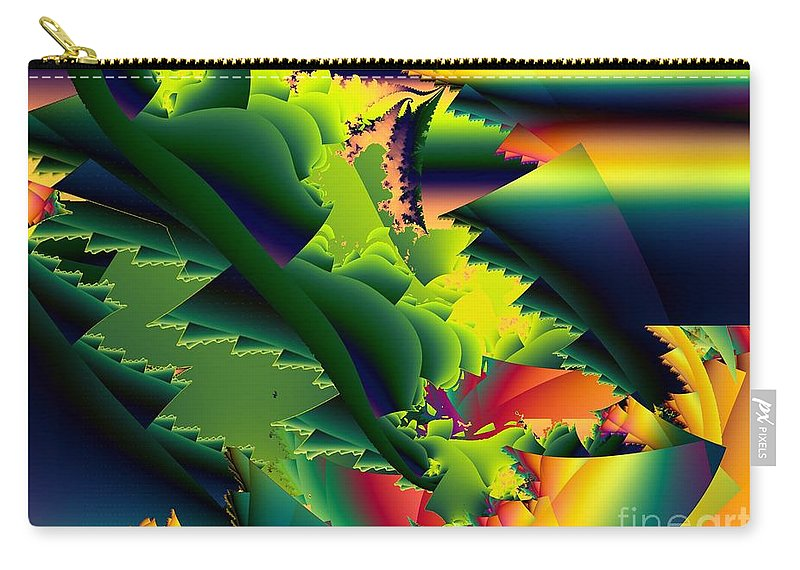 Praying Mantis Carry-all Pouch featuring the digital art Jaws Of The Mantis by Ron Bissett