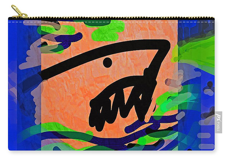 Jaws Carry-all Pouch featuring the drawing Jaws Poster by Paul Sutcliffe