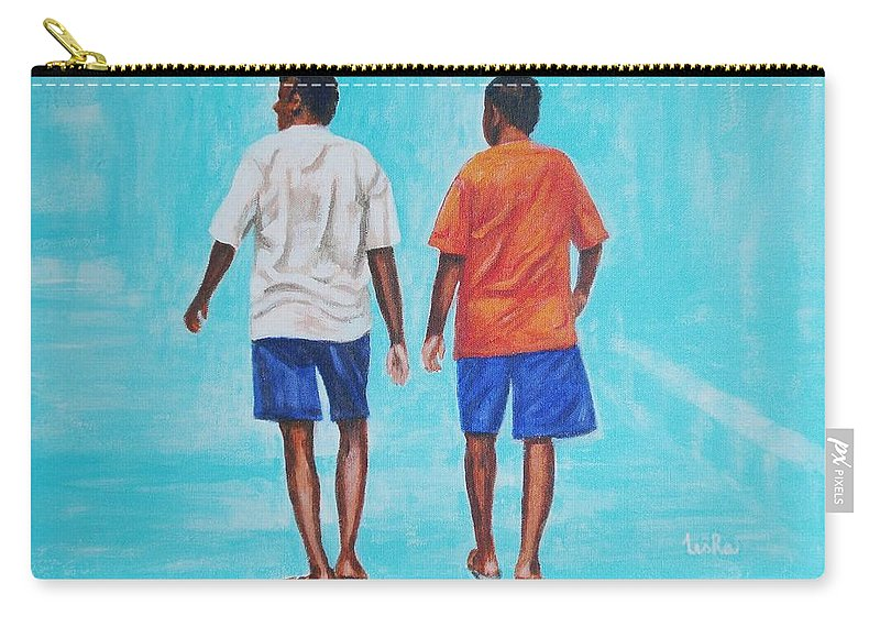 Carry-all Pouch featuring the painting Jay Walkers by Usha Shantharam