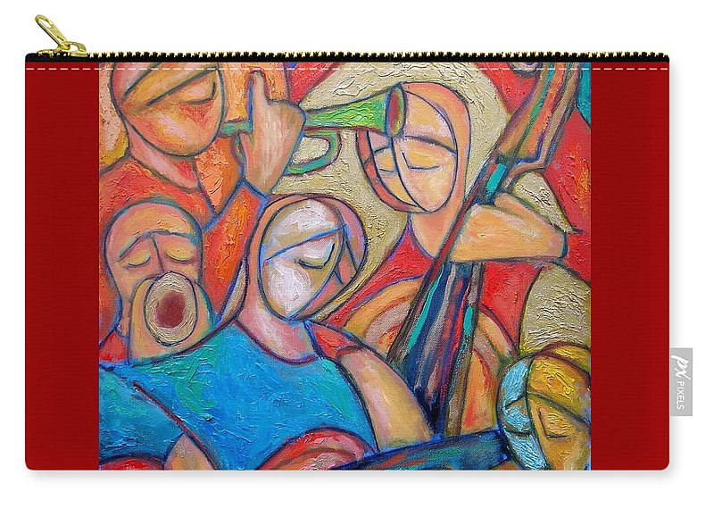 Jazz Carry-all Pouch featuring the painting Jazz Ballad by Emanuel Vardi