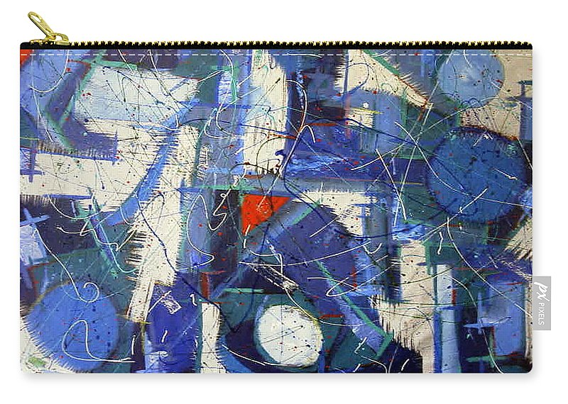 Jazz Bar Carry-all Pouch featuring the painting Jazz Bar by Dawn Hough Sebaugh
