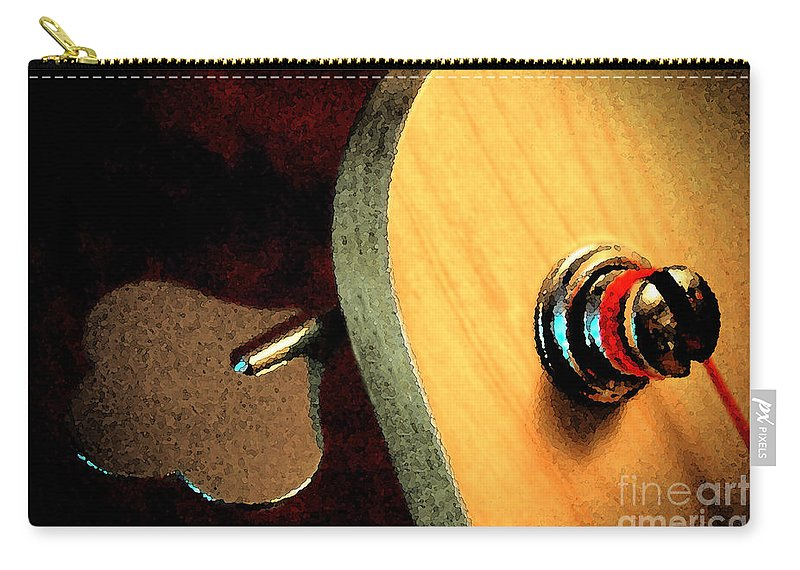 Still Life Carry-all Pouch featuring the digital art Jazz Bass Tuner by Todd A Blanchard