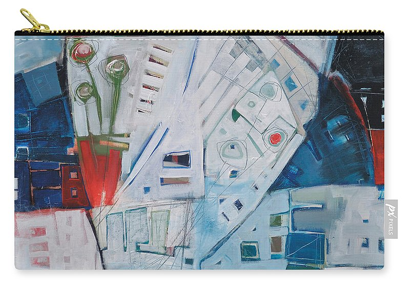 Jazz Carry-all Pouch featuring the painting Jazz In Bloom by Tim Nyberg