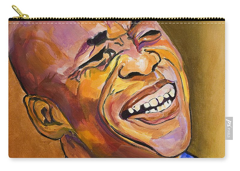 Portraits Carry-all Pouch featuring the painting Jazz Man by Pat Saunders-White