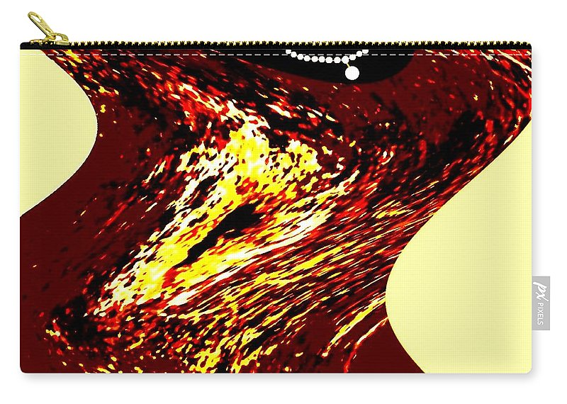 Abstract Carry-all Pouch featuring the digital art Jazz Singer by Will Borden