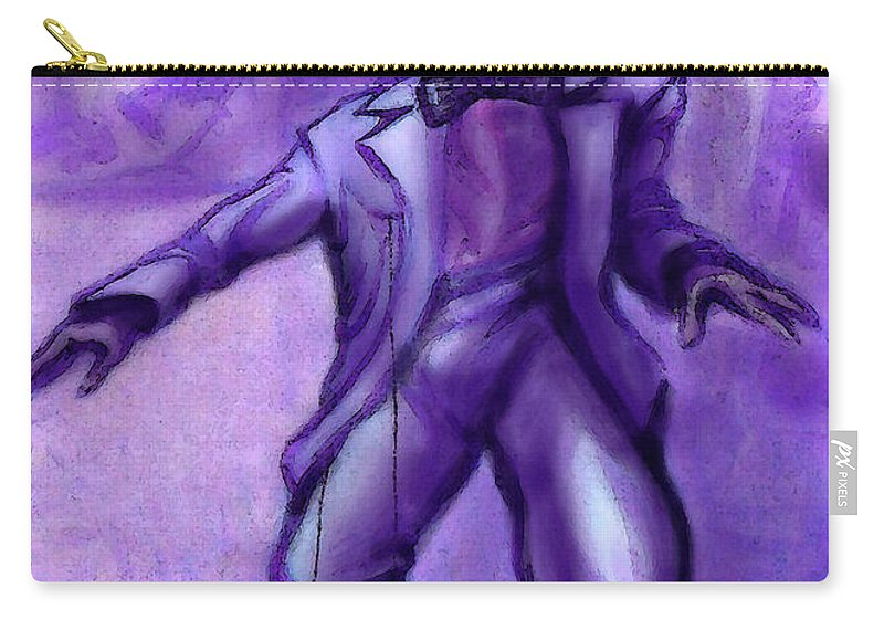 Jazz Carry-all Pouch featuring the painting Jazzy by Kevin Middleton