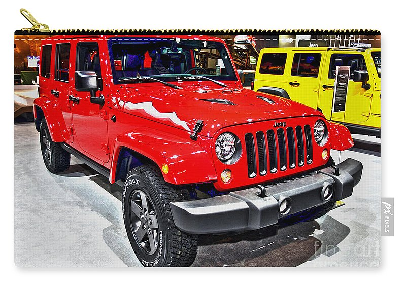 Auto Carry-all Pouch featuring the photograph Jeep Wrangler X by Alan Look