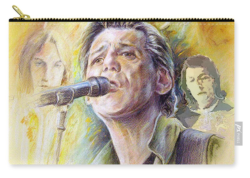 Jeff Christie Carry-all Pouch featuring the painting Jeff Christie by Miki De Goodaboom