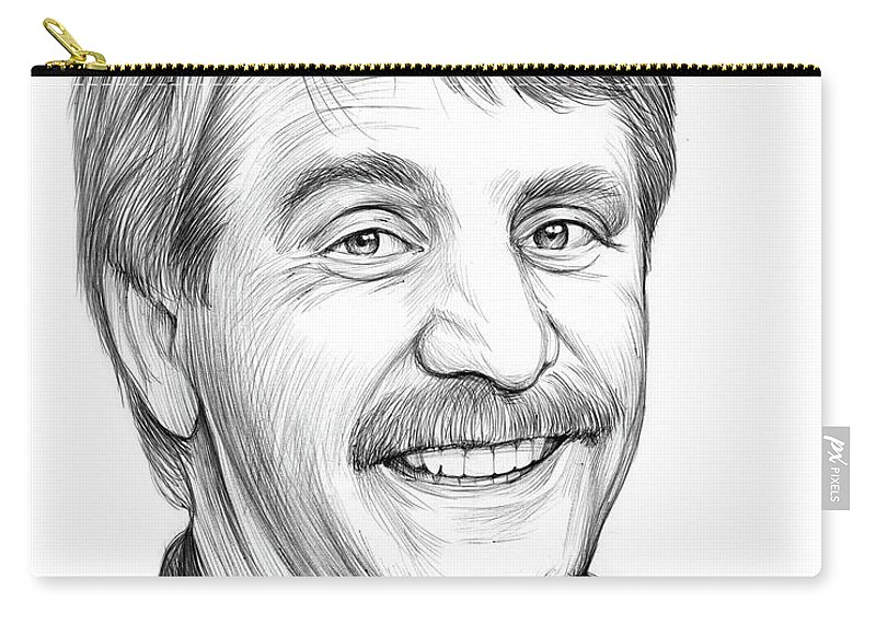 Jeff Foxworthy Carry-all Pouch featuring the drawing Jeff Foxworthy by Greg Joens