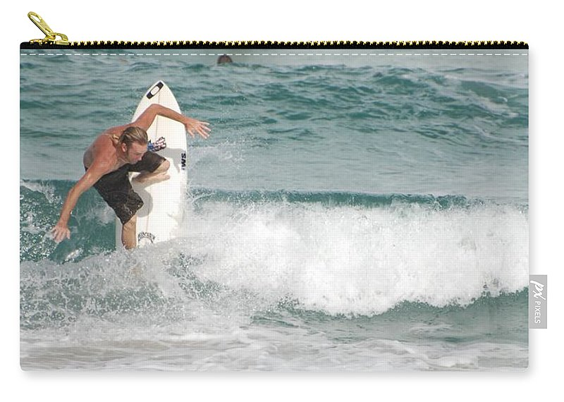 Ocean Carry-all Pouch featuring the photograph Jeff Spicolli by Rob Hans